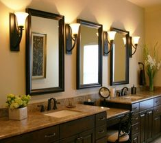 bathroom-mirror-frames-and-wall-sconces-with-vanity-tops-also-double-sink-and-vanity-cabinet-with-framed-mirrors-for-bathrooms-plus-accent-chair-and-make-up-mirror-with-home-depot-mirrors-680x602.jpg (680×602)