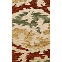 Dalyn Rug Co. Bella Brown/Green/Beige Area Rug Rug Size: Oval 8' x 10'