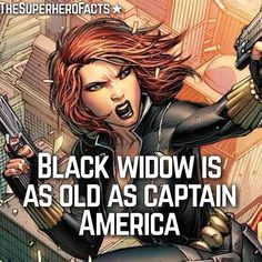 Black Widow Fact - (She's a old lady)