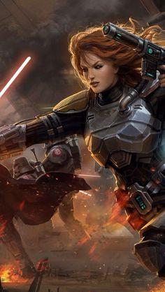 Star Wars - Mara Jade. If she's not in the new Star Wars series, I'm gonna scream.