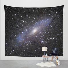 Galaxy Andromeda Wall Tapestry by Guido Montañés   Society6