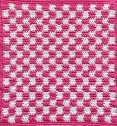 GREITZAN: Grytlappar med stora och små virkade rutor Crochet Potholders, Crochet Kitchen, Tapestry Crochet, Diy Crochet, Pot Holders, Periodic Table, Projects To Try, Diy Crafts, Sewing