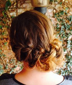 Side plait bun