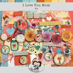 Oscraps.com :: Shop by Category :: All New :: SoMa Design: I love you Mom - Kit I Love You Mom, My Love, Scrapbook, Kit, Happy, Shop, Design, Love You Mum, Scrapbooks