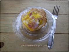 The Thriftiness Miss: Ham and Cheese Breakfast Biscuit Cups