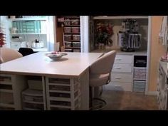 Craft Room Tour Part 1 Jen Unger's space Just lovely, & so well concieved. Watch Part 2 for other good ideas. 17:01m