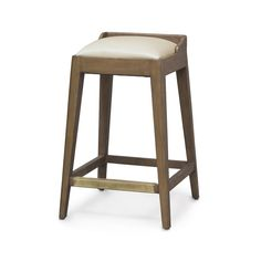 """Plantation hardwood frame finished in a dark smokey brown finish. Brass kickplate. Upholstered seat.    Available in 2 sizes:   Counter Stool - 18""""w x 18""""dp x 24""""h  Bar Stool - 18""""w x 18""""dp x 30""""h"""