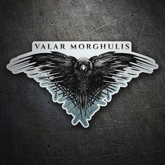 Sticker Valar Morghulis - Game of Thrones. It refers to a prayer in valyrio, a language invented in the series, whose meaning is Summer Wedding Cakes, Black Wedding Cakes, Black Wedding Rings, Game Of Thrones 1, Game Of Thrones Quotes, Valar Morghulis, Game Of Thrones Illustrations, Alone Game, Vinyl Paper