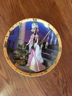 A personal favorite from my Etsy shop https://www.etsy.com/listing/515526730/a-barbie-8-14-inch-clock