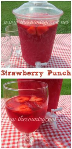 Sparkling Strawberry Punch