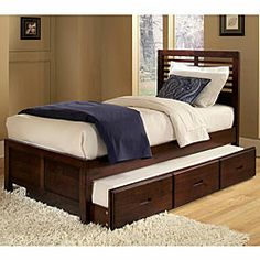 Tribecca Home Ferris Twin Captain's Bed With Trundle Unit