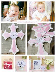 Pink Baptism ideas for Leena.