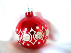 Topper Antique Tree Christmas Glass Ornament Soviet Long Silver Vintage Decoration Ornaments Retro Bubbles Green Flowers Red Elegant