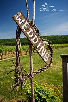 Wedding at the vineyard - right this way.