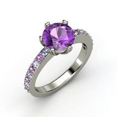 Round Amethyst Palladium Ring with Tanzanite & Amethyst $701 ... THE ONE!?!?