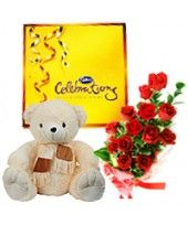 You can order a Best wishes pack from the family of FlowerzNCakez, India that made by chocolates, adorable teddy bear and roses. Wedding Anniversary Gifts, Anniversary Parties, Online Birthday Cake, Birthday Cakes, Valentine Day Gifts, Christmas Gifts, Buy Flowers Online, Corporate Gifts