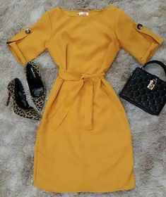 Pin on vestidos Dressy Dresses, Simple Dresses, Cute Dresses, Girly Outfits, Classy Outfits, Chic Outfits, Dress Outfits, Elegant Outfit, Classy Dress