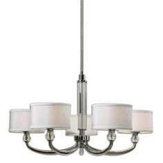Vanalen Polished Chrome Five Light Chandelier