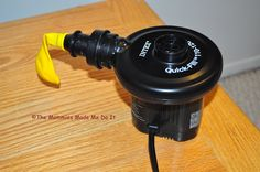 Use an airmattress pump to inflate balloons. great tutorial on tying balloons onto a string, quickly & easily