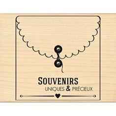 Tampon bois - Envolée de Douceur - Jolie enveloppe  - 9,3 x 9,3 cm