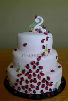 This would be so cute for Mica's 2nd Birthday!    Lady bugs!
