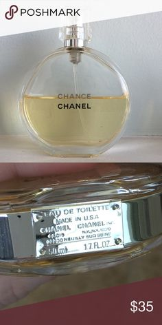 Chanel Chance Eau de Toilette 1.7 oz This is such a timeless, classic fragrance! I love it, but as a SAHM I just don't get enough opportunities to wear it. It's about half full, so I'd rather someone else enjoy it than it go to waste sitting on my vanity! Feel free to make an offer! CHANEL Other