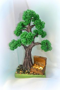 дерево из бисера. Дуб с сокровищами