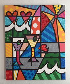 Britto Style - Acryl auf Leinwand - Michael Handte