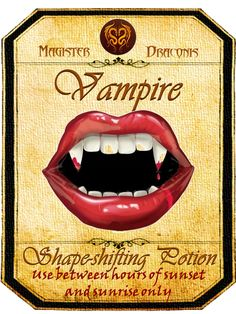Halloween Vampire Potion Label Halloween Apothecary Labels, Halloween Bottle Labels, Halloween Potions, Halloween Vampire, Halloween Items, Halloween Projects, Vintage Halloween, Holidays Halloween, Happy Halloween