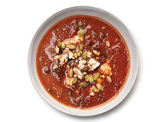 Black Bean Soup with Roasted Poblano Chiles Recipe  | Epicurious.com