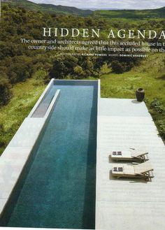 sleek design for lap pool