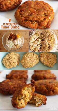 Lent Recipe- 8 Ingredient Tuna Cakes – Quick and easy meatless recipe using items you may already have in your pantry or take a quick shop. Fish Recipes, Seafood Recipes, Cooking Recipes, Canned Tuna Recipes, Healthy Tuna Recipes, Cooking Ideas, Quick Recipes, Healthy Desserts, Healthy Food