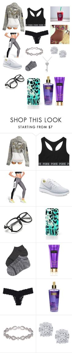 """Untitled #774"" by mashelgracehoran96 ❤ liked on Polyvore featuring Victoria's Secret, NIKE, Victoria's Secret PINK, Bony Levy, Effy Jewelry and Forzieri"