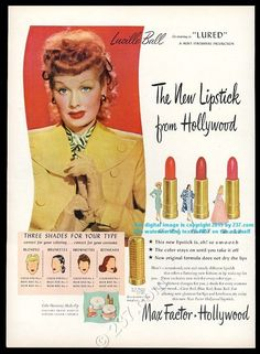 This is an original 1947 print ad for Max Factor lipstick! An unusual and distinctive piece for your frame. If you've seen print ads used in set decoration for TV shows or films, you've likely seen our ads. | eBay!