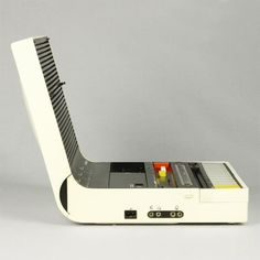 Brionvega Soundbook (1974) Cassette recorder and radio designed by Richard Sapper & Marco Zanuso. Iconic design that was way ahead of it's time.. http://www.design-is-fine.org/post/75471175161/richard-sapper-marco-zanuso-soundbook-radio-and
