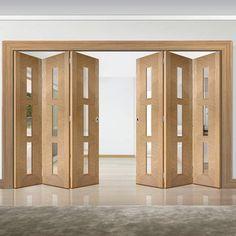 Internal and External folding doors, bi-fold, concertina, patio. Shop Now at Direct Doors. Partition Door, Partition Design, Exterior Doors, Interior And Exterior, Best Door Designs, Sliding Door Design, Family House Plans, Folding Doors, Internal Doors