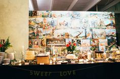 good idea if the background behind the sweets table isn't pretty