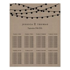 The Rustic Kraft String Lights Wedding Collection