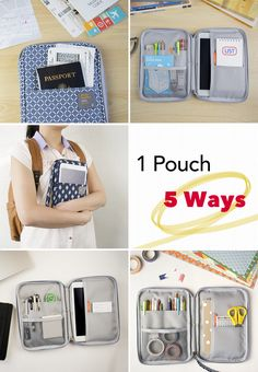 Can you believe just how many different ways you can use a Better Together pouch? They're super light & adorable, but pack a punch when you organize. One of my recent favorites is the Better Together Daily Pouch! It's small enough to fit in my bag, but big enough to use as a standalone clutch. I use it when I study, go to work, do crafts, travel, & run daily errands! With 7 pockets & 4 cute styles to pick from, it's the ultimate carry-all for all my organization needs!