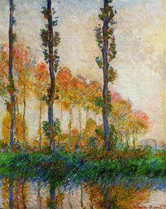 Les Trois arbres, automne (C Monet - W 1308) | par photopoésie, 1891.