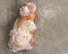 Newborn PropLace RomperBaby Girl ClothesNewborn Coming Home