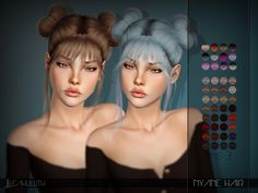 Nyane Hair Found in TSR Category 'Female Sims 3 Hairstyles' Sims 4 Tsr, Sims Cc, Sims 4 Black Hair, The Sims 4 Cabelos, Sims4 Clothes, Sims 4 Dresses, Sims Hair, Queen Makeup, The Sims 4 Download