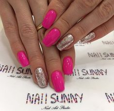 Desire for simple nails artwork? Then read these quite easy peasy guide number 4801055355 right here. Shellac Nails, Nail Manicure, Acrylic Nails, Short Nail Designs, Nail Art Designs, Cute Nails, Pretty Nails, Hot Pink Nails, Summer Toe Nails