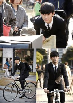 """Kim Soo Hyun Looks Good in a Black Suit for First Stills of """"My Lover From the Stars"""""""