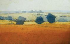 "Paul Balmer, Earth Orange, Oil on Canvas, 30"" x 60"""