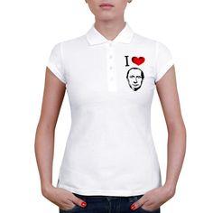 Женская футболка поло Я люблю Путина