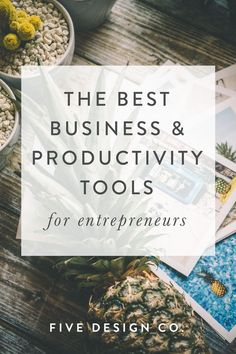 The best business & productivity tools for entrepreneurs & small businesses // Our favorite (tried Business Tips, Online Business, Creative Business, Business Website, How To Start A Blog, How To Make Money, Software, Productivity Hacks, Time Management Tips