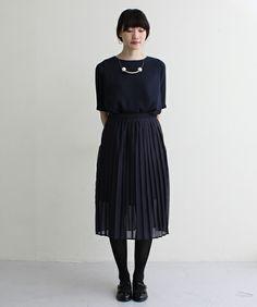 *ジョーゼット プリーツスカート付ドレス*(ワンピース) I am I in fact...(アイアムアイ インファクト)のファッション通販 - ZOZOTOWN