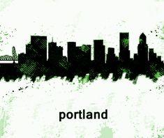 City Skylines, Portland Oregon, Cities, Movie Posters, Art, Art Background, Film Poster, City, Kunst