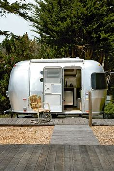 airstream studio inspiration via #thehomeground... Super cute idea for the backyard as a mini cottage... now to convince the husband